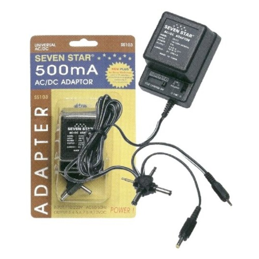 AC-DC-12 VDC 500 mA power supply