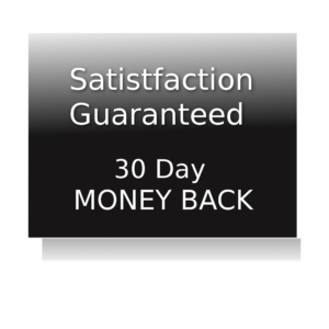 Satisfaction Guarantee 30 day money back